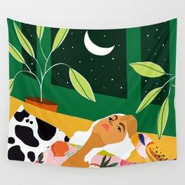 Moon Lover #illustration #feminism Wall Tapestry