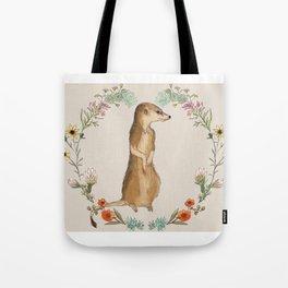 Meerkat in Desert Wreath Tote Bag