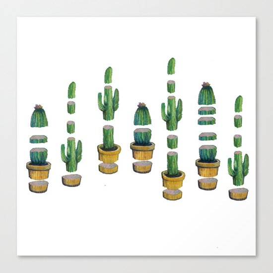 cactus art Canvas Print