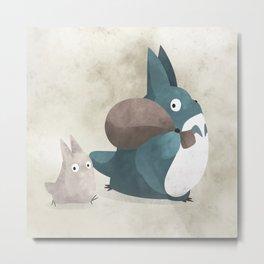 Totoro's creatures illustration Metal Print