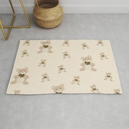 Teddy Bears - Beige Rug