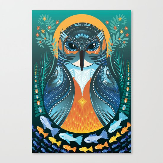 The Nesting Fisher King Canvas Print