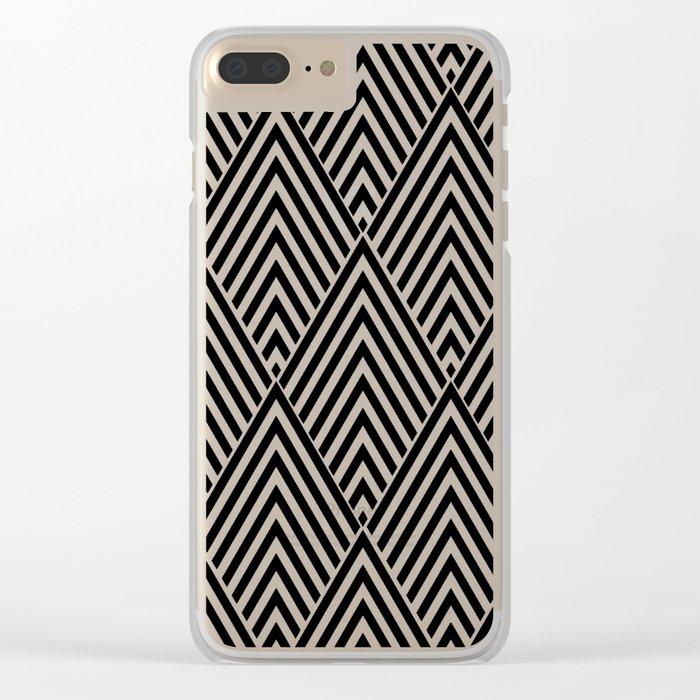 Triangles in Diamonds Clear iPhone Case