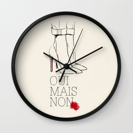 Oui mais non Wall Clock