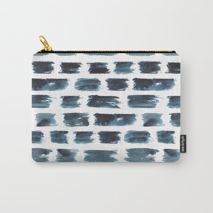 Indigo brushstrokes Carry-All Pouch