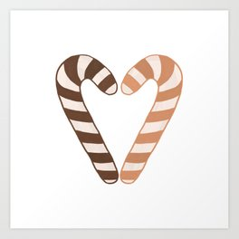 Candy Canes, Sweet, Food Art Print