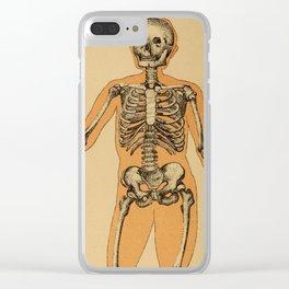 Vintage Human Skeleton Illustration (1887) Clear iPhone Case
