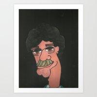 Rainbow Stache Art Print
