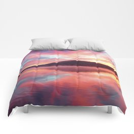 Sunrise: Fire Above and Fire Below Comforters
