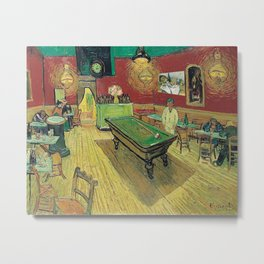 The Night Cafe by Vincent van Gogh Metal Print