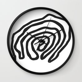 Tribal Print B&W- 06 Wall Clock