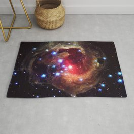 Red Supergiant Star V838 Monocerotis Deep Space Telescopic Photograph Rug