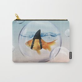Shark Fin Goldfish in a Bubble Carry-All Pouch