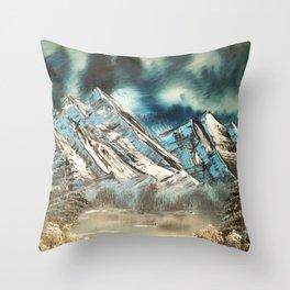 Winter Skies Throw Pillow