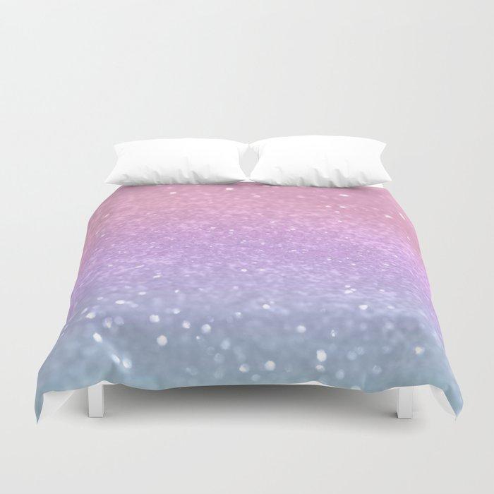 Unicorn Princess Glitter #1 (Photography) #pastel #decor #art #society6 Duvet Cover