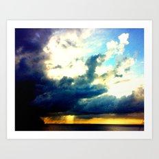 sunrise on mistic island Art Print