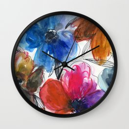 flowers in cold and warm colors N.o 1 Wall Clock