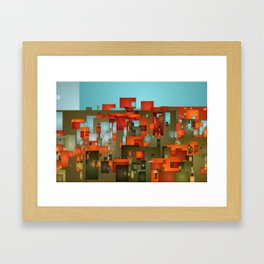 Abstract city in color by lh Framed Art Print