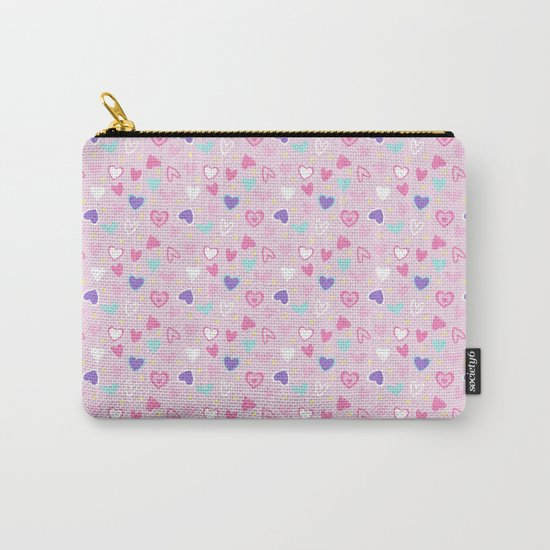 Love Heart Print  Carry-All Pouch