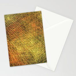 Gold square Stationery Cards