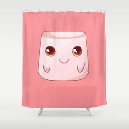 Funny Anime Marschmallow Kawaii Costume Otaku Gift Shower Curtain