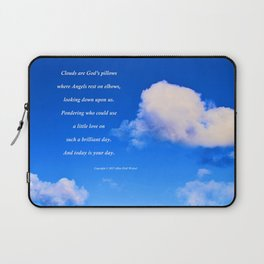 """Clouds #57"" with poem: God's Pillows Laptop Sleeve"