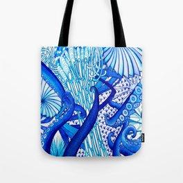 Blue Sploodge  Tote Bag