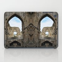 downton abbey iPad Cases featuring Glastonbury Abbey by Artemio Studio