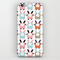 bunnies iPhone & iPod Skins featuring bunnies by PETITE PATATE