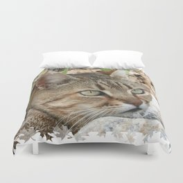 Tabby Cat Portrait Duvet Cover