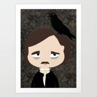 edgar allan poe Art Prints featuring Edgar Allan Poe by Creo tu mundo
