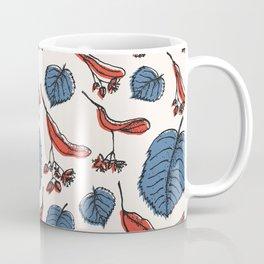Linden pattern in retro mid-sentury colors Coffee Mug