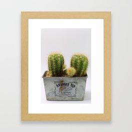 Twin Cactus Framed Art Print