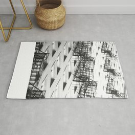 Chicago fire escapes Rug