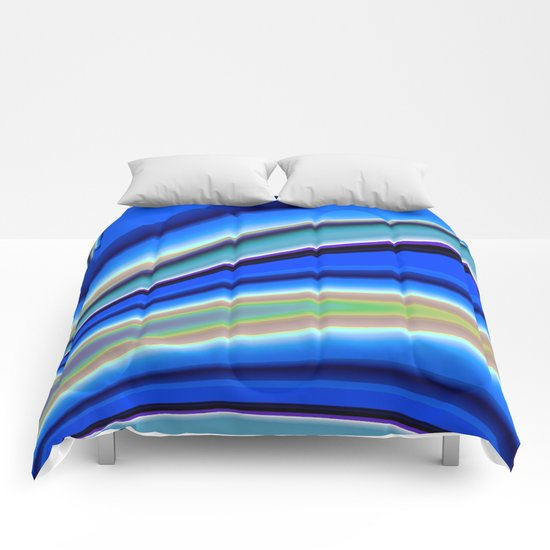 Abstract Fractal Colorways 01BL Comforters