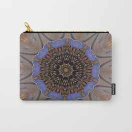 Blue Brown Kaleidoscope Retro Groovy Image Carry-All Pouch