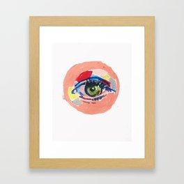 Saw Red Framed Art Print