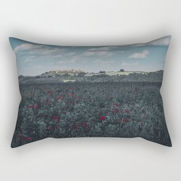 Red flowers in tuscany Rectangular Pillow