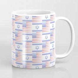 Mix of flag : usa and israel 2 with color gradient Coffee Mug