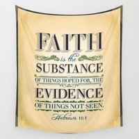 scripture Wall Tapestries featuring The Substance of Things Hoped for . . . by Peter Gross