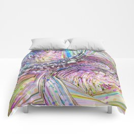 RAINBOW IN A BLENDER ABSRACT Comforters