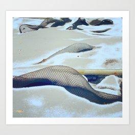 snow hunting Art Print