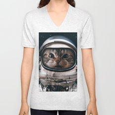 Space catet Unisex V-Neck