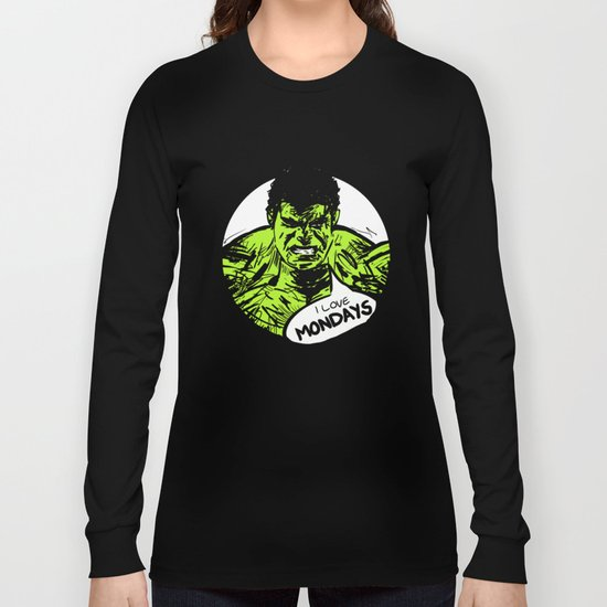 Hulk loves Monday Long Sleeve T-shirt