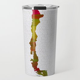 Colorful Art Chile Map Travel Mug
