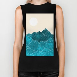 Mountains under the white sun Biker Tank