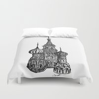 moscow Duvet Covers featuring Moscow by Name