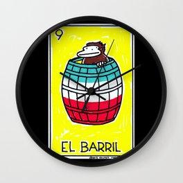Loteria Ape #9: El Barril Wall Clock