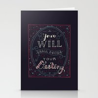 jane eyre Stationery Cards featuring Destiny – Jane Eyre by Leah Doguet