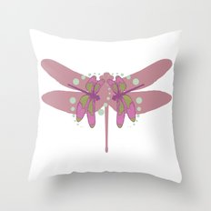 pattern with dragonflies 3 Throw Pillow